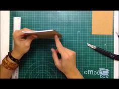 Cómo crear libretas kraft desde cero - TUTORIAL Scrapbook - YouTube