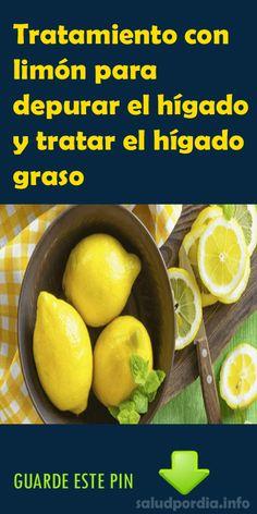 Tratamiento con limón para depurar el hígado y tratar el hígado graso. #limón #hígado #salud