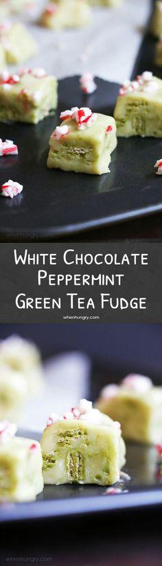 White Chocolate Peppermint Fudge
