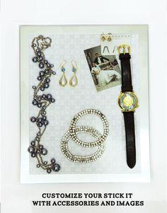 Whitmor Hanging Jewelry Organizer File Crosshatch Gray List Price