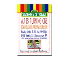 Sesame Street Party Invites