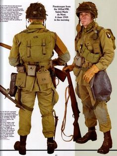 D-DAY AMERICAN PARATROOPERS WW2 UNIFORM EQUIPMENT BOOK - bidStart (item 20072353 in Collectibles