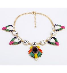 2013 New Designs Wholesale Fashion Accessories Bohemia Design Crystal Short Necklace from bemodia.com