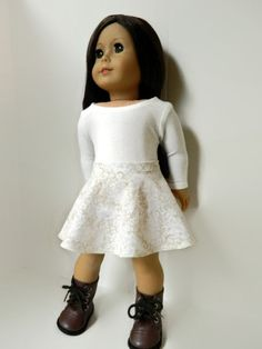 American Girl Doll Clothes Floral Woven Cotton by 18Boutique