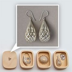 Adorn Jewelry - David Trubridge is turning his modular lights into a jewelry line! Beautiful wooden boxes as packaging!