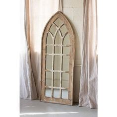 This elegant church mirror is sure to impress any guest. With a rustic wooden frame, it really gives off the perfect vintage appeal for any home. Brown Arched Mirror x Classic cathedral shape Rustic Wood Frame Frame Finish: Distressed Wood Modern French Country, French Country Bedrooms, French Country House, French Cottage, Country Bathrooms, Shabby Cottage, Cottage Chic, Farmhouse Mirrors, Country Farmhouse Decor