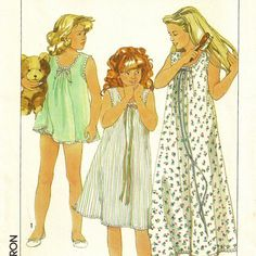 A Nightgown and Baby Doll Pajamas Pattern for Girls