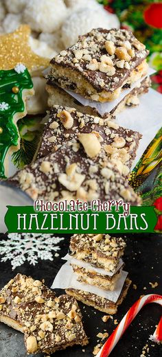 Easy and addicting, these Chocolate-Cherry Hazelnut bars have dried ...