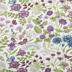 Look at the Hawkswick Curtain Fabric in Plum! The quality product you deserve at an affordable price from Terrys Fabrics! Curtain Fabric, Curtains, Old Building, Window Treatments, Printing On Fabric, Cool Stuff, Plum, Floral, Flowers