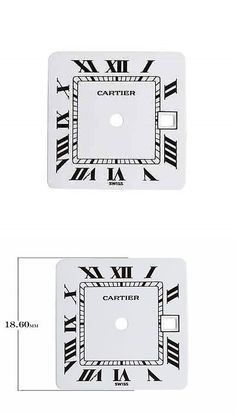 Other Watch Parts 10324: Cartier Watch Parts - Santos Mens Square Automatic - White Dial BUY IT NOW ONLY: $127.5