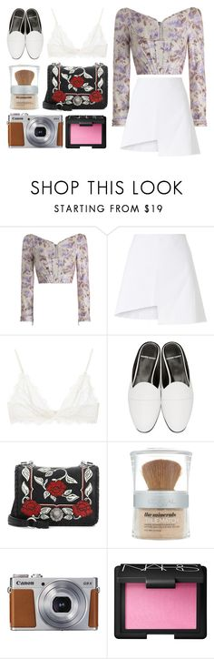 """""""5.672"""" by katrinattack ❤ liked on Polyvore featuring Zimmermann, WÃ¥ven, Anine Bing, Pierre Hardy, Miu Miu, L'Oréal Paris, Canon and NARS Cosmetics"""
