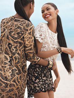Jourdan Dunn & Chanel Iman Teen Vogue November 2009