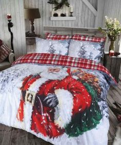 vintage Father Christmas Duvet Quilt Cover Bedding Set – Linen and Bedding Duvet Cover Sale, Quilt Cover Sets, Duvet Covers, Cover Pillow, Pillow Cases, Blanket Cover, Quilt Bedding, Linen Bedding, Bed Linens