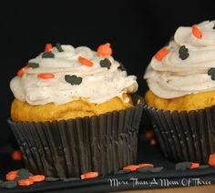 Pumpkin Cupcakes with Cinnamon Frosting - More Than a Mom of Three
