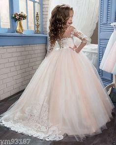 Flower Girl Dress Bridesmaid Wedding Communion Pageant Party Graduation Dress