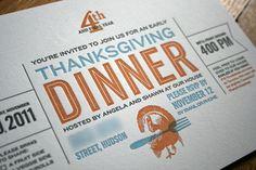 Thanksgiving invitation by 1331 design