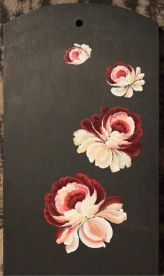 Step by step Tole Painting, Fabric Painting, Painting & Drawing, Acrylic Painting Tutorials, Painting Patterns, Peony Drawing, Rosemaling Pattern, Traditional Paintings, Painting Inspiration