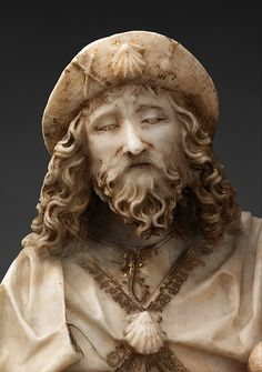 Saint James the Greater, Gil de Siloe (Spanish, active 1475–1505), Alabaster with paint and gilding, Spanish