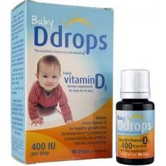 Baby Ddrops- natural pure Vitamin D for babies without sugar or chemical additives- one drop a day on the nipple (boob or bottle) is all you need.
