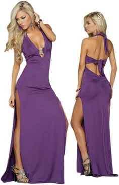 Sexy Orchid Purple Sleeveless Open Back Floor « Dress Adds Everyday