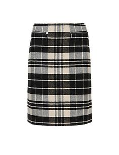 Checked Mini Skirt with Wool Clothing