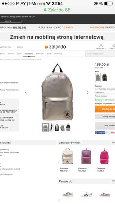 Bestt backpack my love From zalando.pl/ pearlized backpack Converse☀️