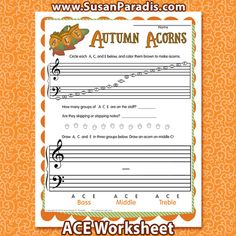 Autumn Acorn ACE The popular composer and piano pedagogy teacherElizabeth Gutierrez suggested in her Piano Camp for Piano Teachers workshop a few years ago that learning the notes A C E on…