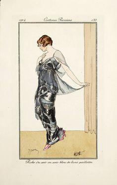 Etienne Drian Journal des Dames et des Modes Costumes Parisiens 1914