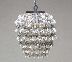 G7-405/1  Chain / Rod Pendants CHANDELIER Chandeliers, Crystal Chandelier, Crystal Chandeliers, Lighting $99