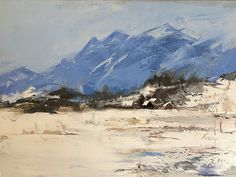 Boulder Mountains by Sandra Pratt Oil ~ 11 x 14