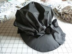 A Black Silk Bonnet, The Pattern: Drafted by me, by trial and error, with multiple mock-ups until I got the shape of brim and v. 18th Century Clothing, 18th Century Fashion, Silk Bonnet, Bonnet Hat, Historical Costume, Historical Clothing, 18th Century Costume, Period Outfit, Jane Austen