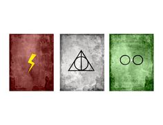 Minimalist Harry Potter Prints by LittleNerdyPrints on Etsy, $10.00