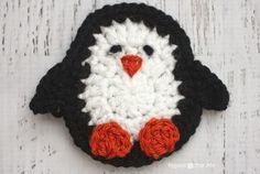P is for Penguin: Crochet Penguin Applique