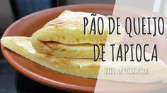 Receita super fácil de pão de queijo feito de tapioca. Baixas calorias e ainda é feito na frigideira. Mais fácil impossível!