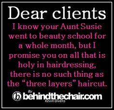 Aunt Suzie goes to beauty school ...