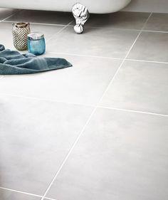 Urban Grey Floor Tile Grey Floor Tiles, Bathroom Floor Tiles, Grey Flooring, Wooden Flooring, Kitchen Flooring, Attic Bathroom, Bathroom Renos, Master Bathroom, Bathroom Ideas