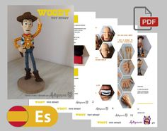 WOODY Patrón Amigurumi Español | Etsy Half Double Crochet, Single Crochet, Crochet Patterns Amigurumi, Crochet Hooks, Woody, Toy Story Movie, Red Felt, Yarn Needle, Stitch Markers