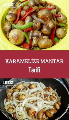 Karamelize Mantar Tarifi Mezeler - Kahvaltılıklar - Las recetas más prácticas y fáciles Healthy Eating Tips, Healthy Nutrition, Fruits And Vegetables, Veggies, Tasty, Yummy Food, Vegetable Drinks, Turkish Recipes, Mushroom Recipes