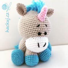 Prostě cute!  I love unicorn. Háčkovaný jednorožec