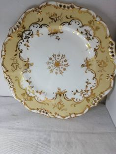 This item is unavailable Old Plates, Beautiful Things, China, Etsy Shop, Unique Jewelry, Tableware, Handmade Gifts, Gold, Vintage