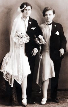 Wedding photo, Budapest, c. 1920s