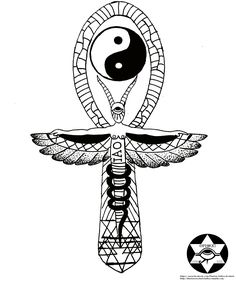 """The Ankh for the egyptian"""": it is also know key of lifethe key . Esoteric Tattoo, Egyptian Drawings, Life Tattoos, Art Drawings, Symbols, Letters, Ink, Artwork, Image"""