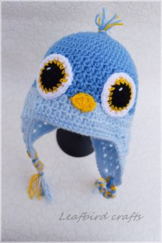 Hey, I found this really awesome Etsy listing at https://www.etsy.com/uk/listing/230356393/crochet-baby-hat-bird-hat-blue-bird-baby