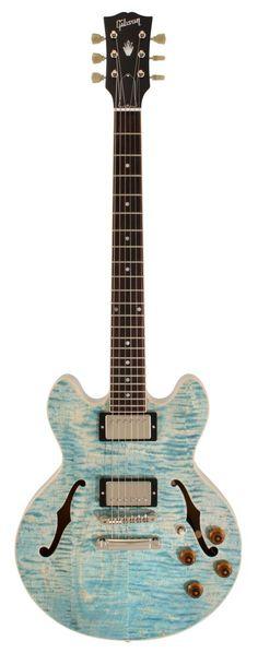 gibson custom shop - cs 336. figured trans frost blue.
