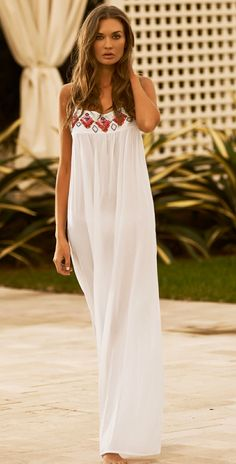 Beach Style 2014 - Style Estate - PilyQ 2014 Enjoy Biscayne White Dress