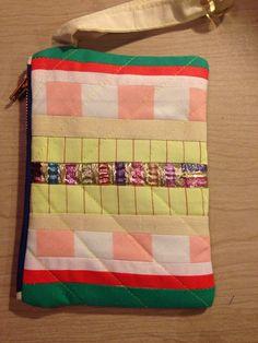 Mini pathwork wallet. Made by Rikke Svendsen.