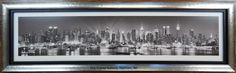 Instead of matting this print, we stacked a black #frame inside the silver frame, making it very sleek and modern which fits the print perfectly.  Love it!  #customframing #NYC #theframegallery