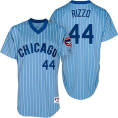 59754c764fb Chicago Cubs 1981 Throwback Anthony Rizzo Majestic Athletic jersey