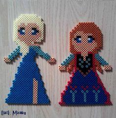 Anna et Elsa la reine des neige en perles à repasser