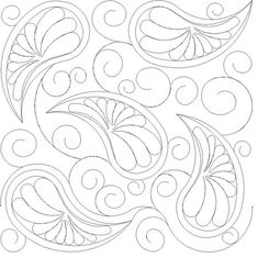 Shop   Category: Feathers, Pearls and curls   Product: Paisley and Feathers E2E simple